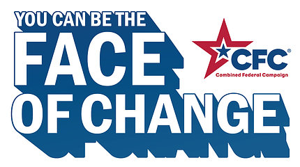 """Poster reads """"You Can Be the Face of Change"""" CFC with blue and red stars"""