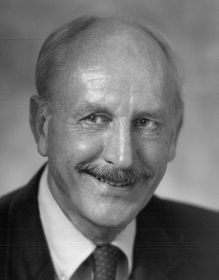 Black & white photo of Dr. David Davies