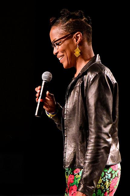 Jazz singer Nnenna Freelon performing.