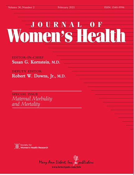 Red cover of special issue of the Journal of Women's Health
