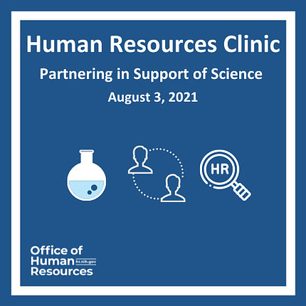 blue graphic box containing white science/discovery icons--beaker, magnifying glass, people silhouettes
