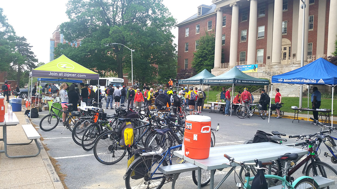 Bike to Work Day outdoor scene, 2015