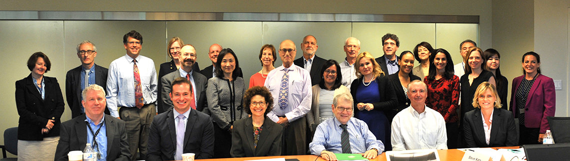 Large group of roundtable participants