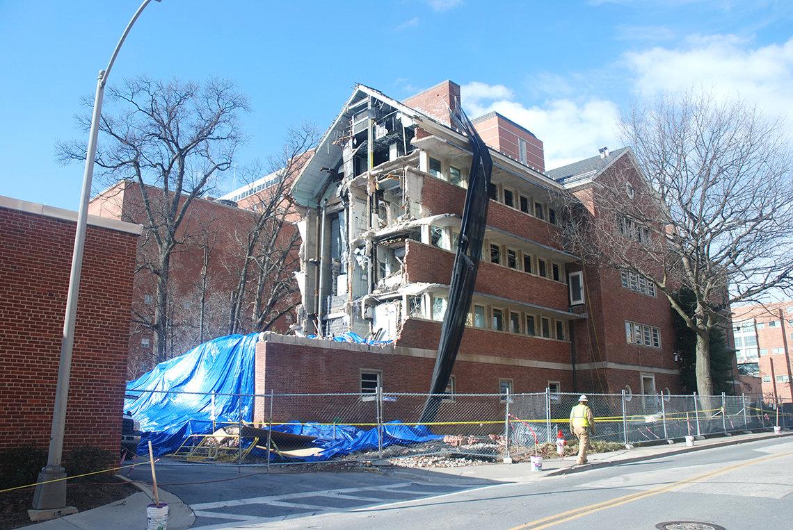 A half-demolished Bldg. 7