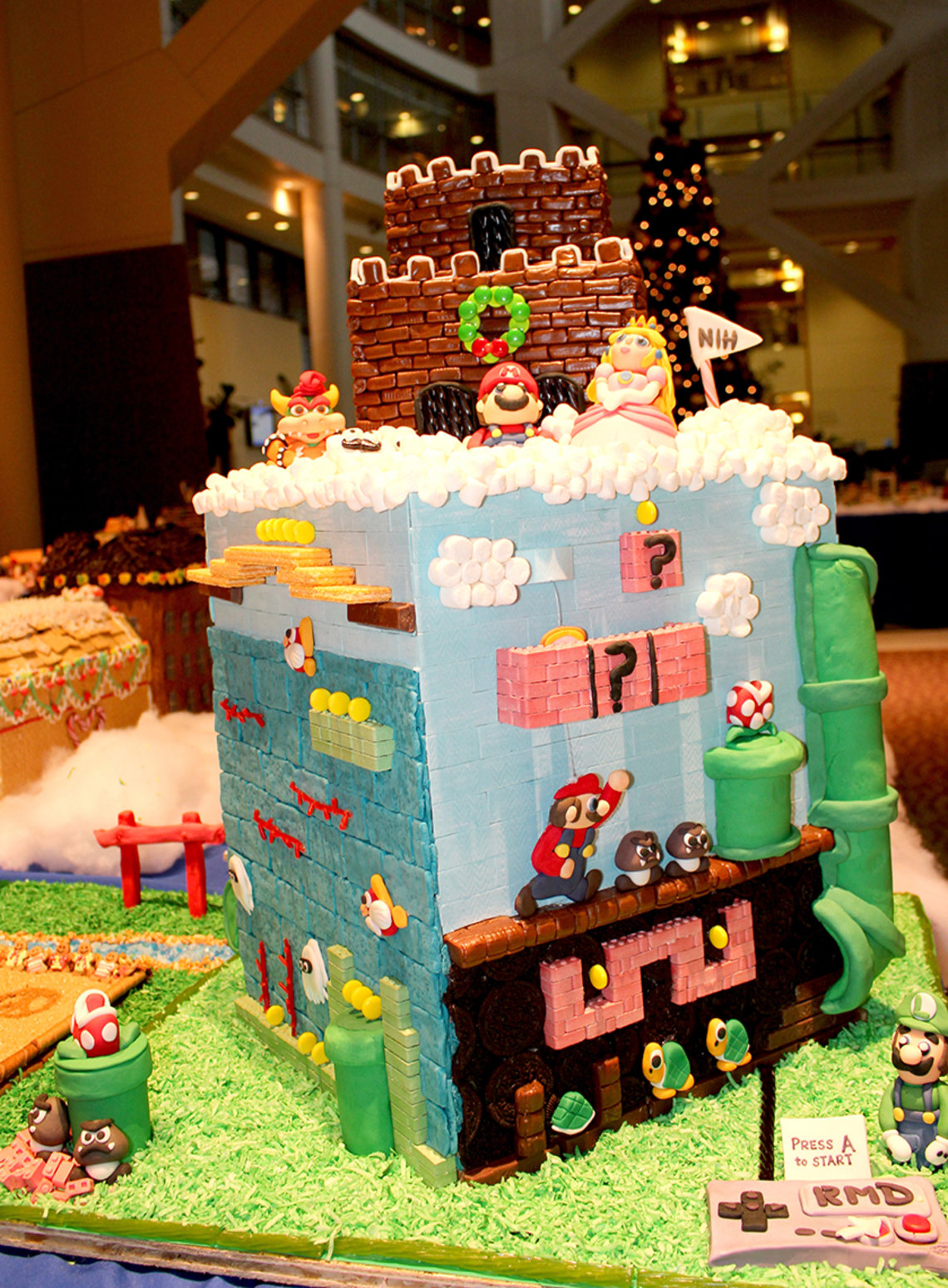 Winner of gingerbread house contest