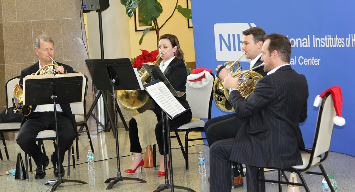 NSO horn ensemble performs at NIH.