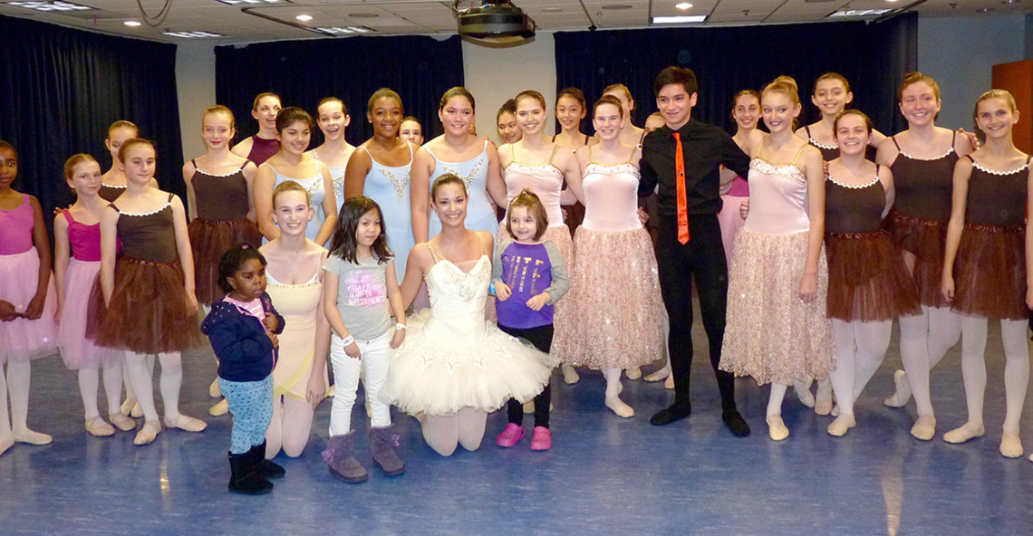 Ballet troupe that performed the Nutcracker at NIH.