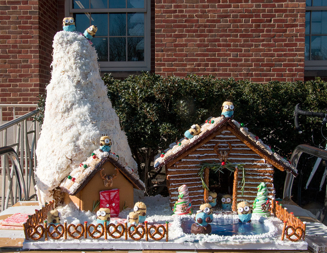 Gingerbread house with Minions.