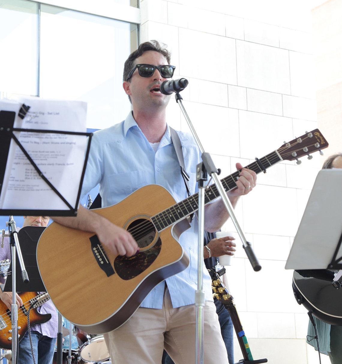 Guitarist Grayson sings.