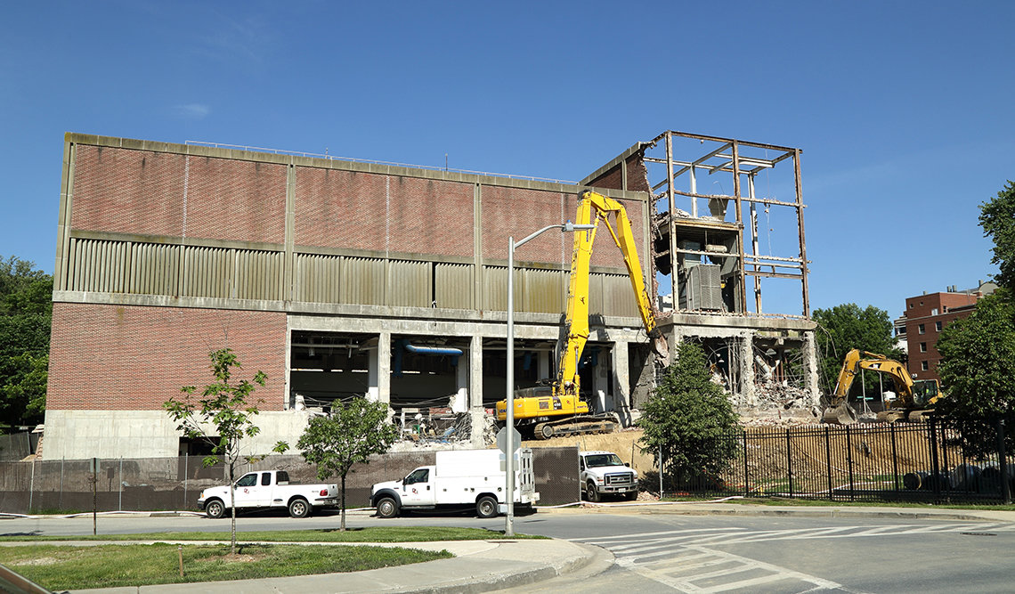 Image of building being demolished