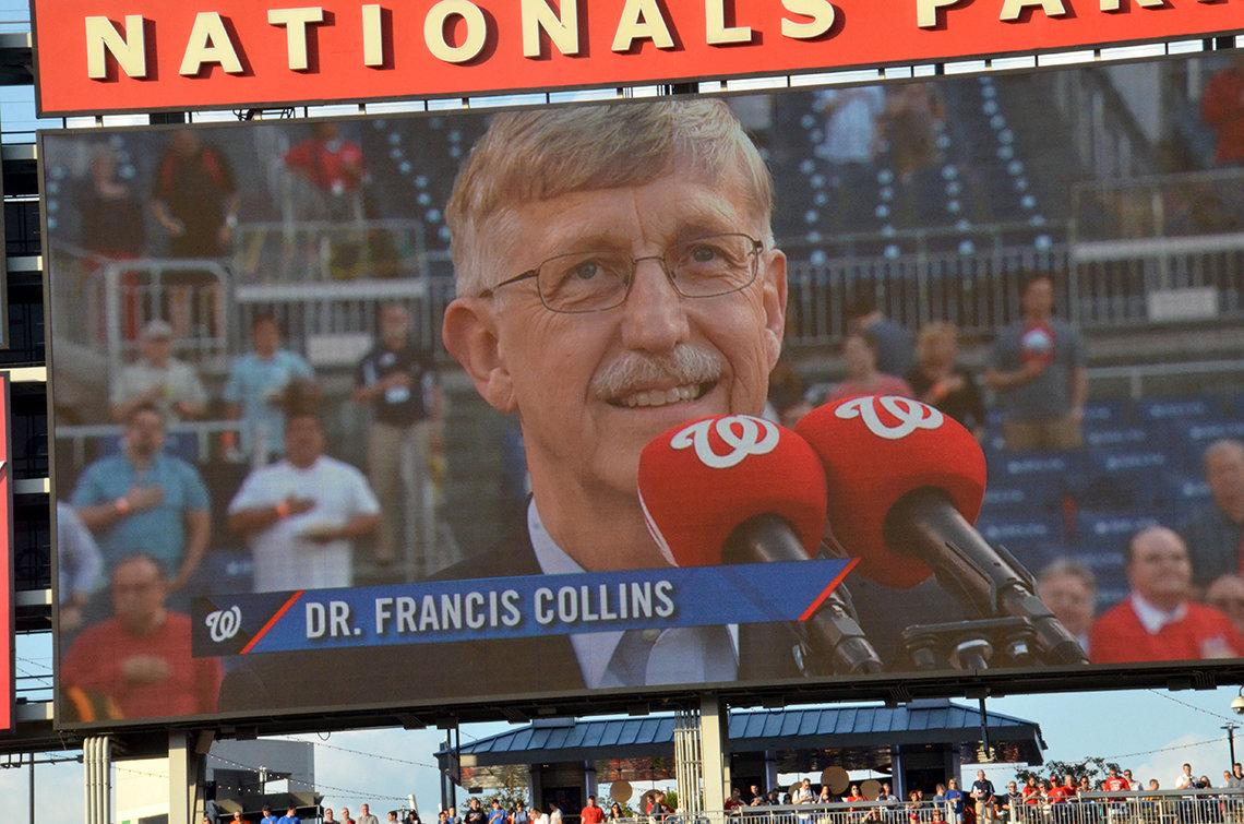 Scoreboard image shows Dr. Collins