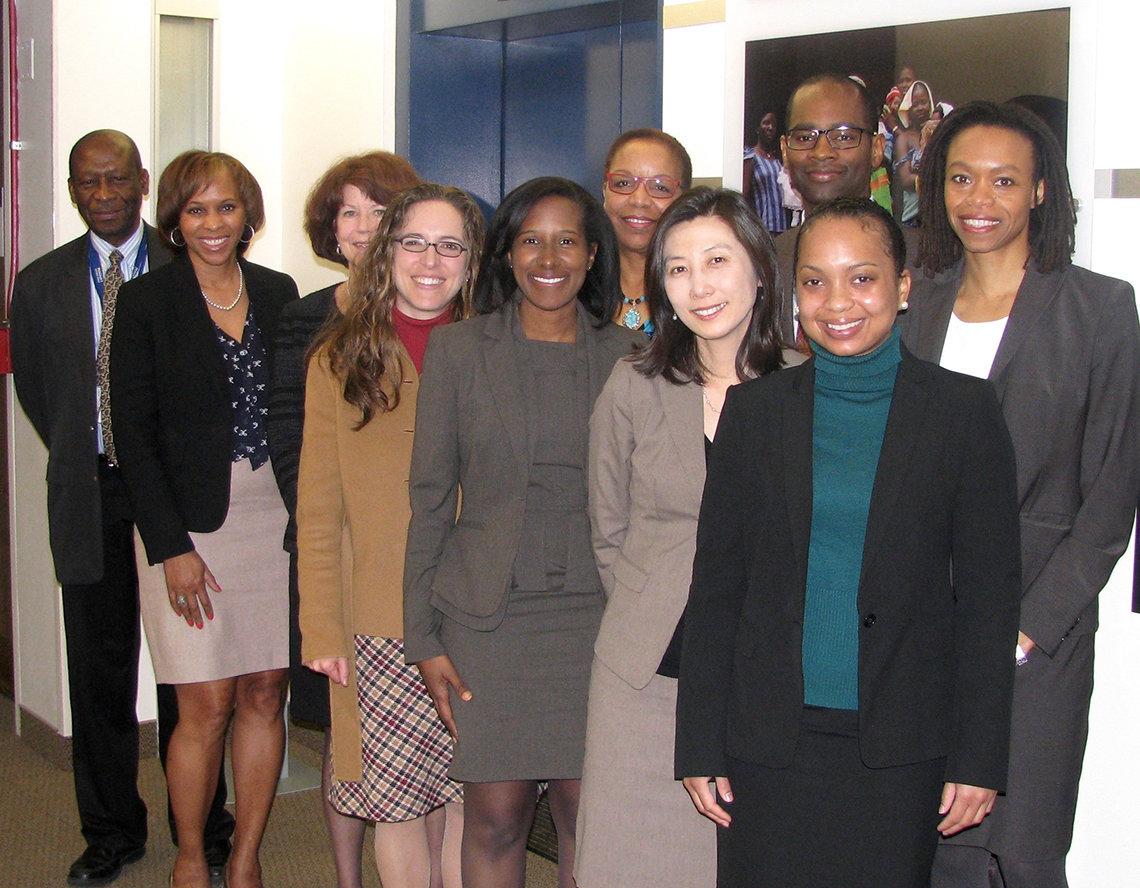 Dr. James with Harvard Mongan fellows
