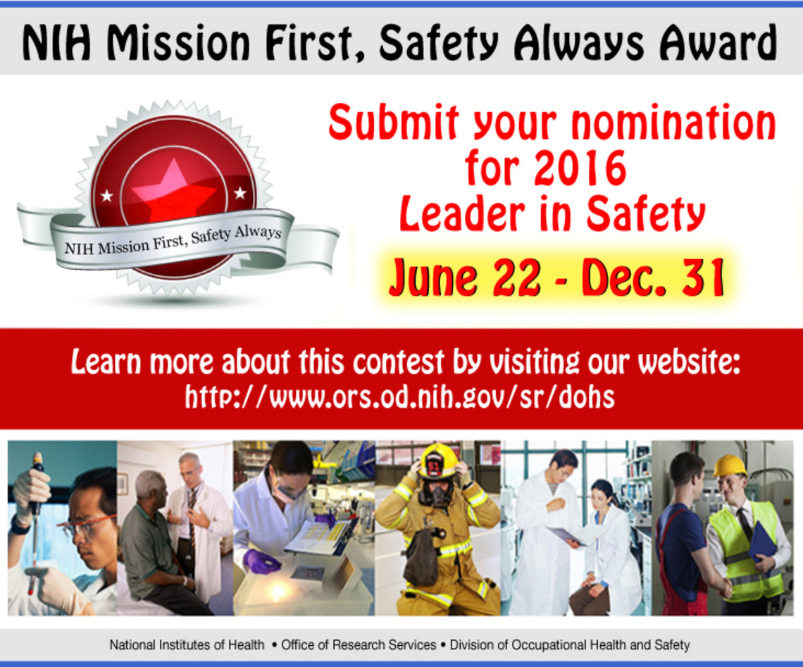 NIH Mission First, Safety Always Award