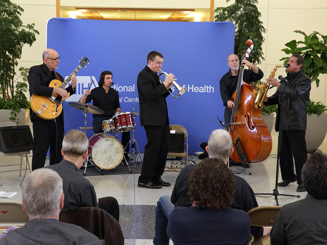 The University of Maryland Jazz Quintet plays at NIH.