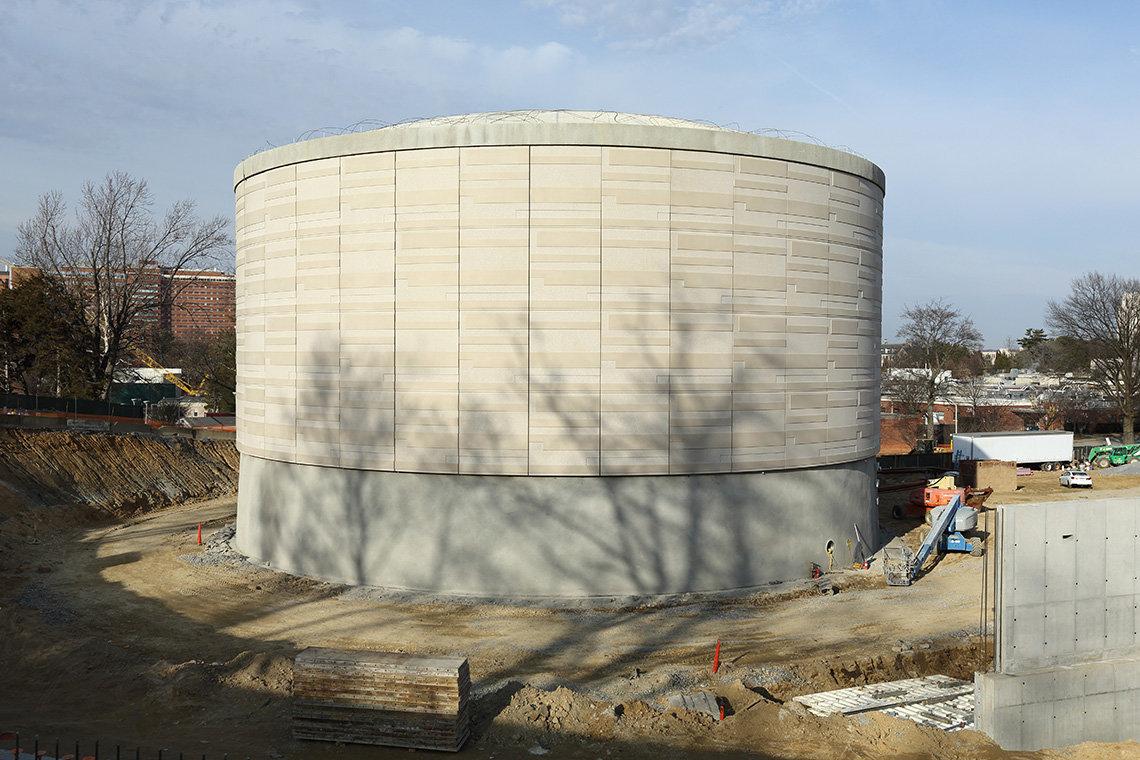 Large circular tank