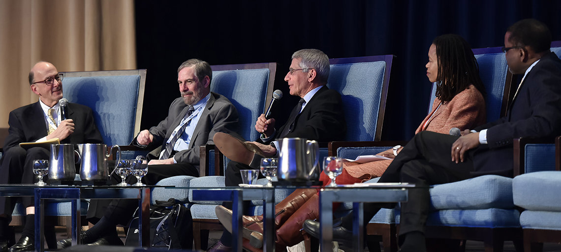 Glass, Lowy, Fauci, NIMH's Collins and Gibbons speak on panel