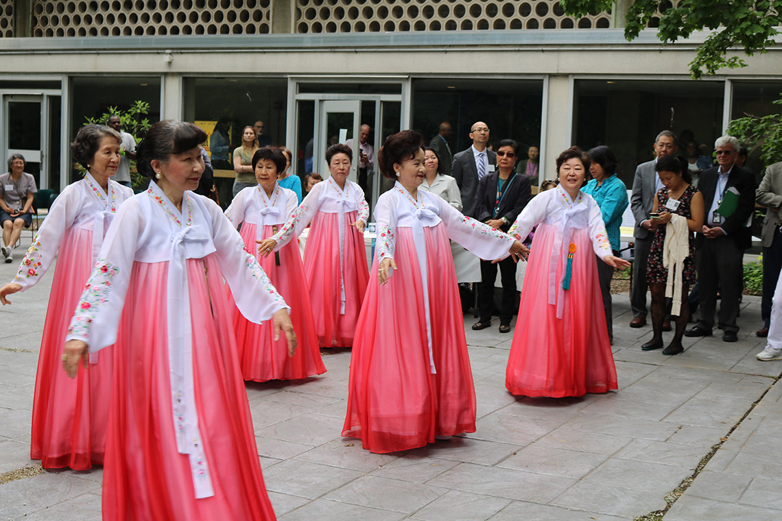 Korean dance group in action