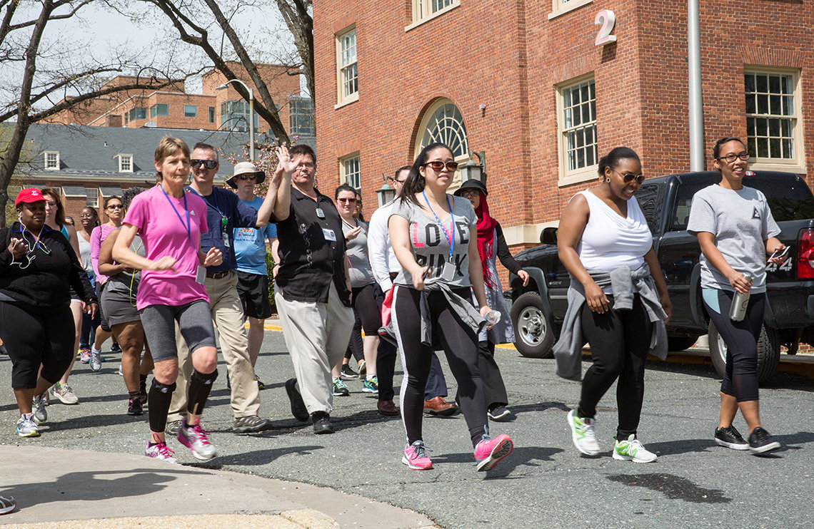 Walkers step off in the 5K