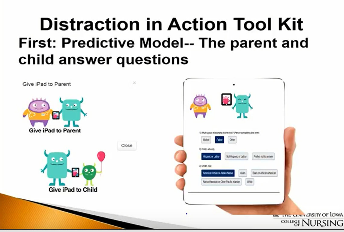 An illustration of the Distraction in Action Tool