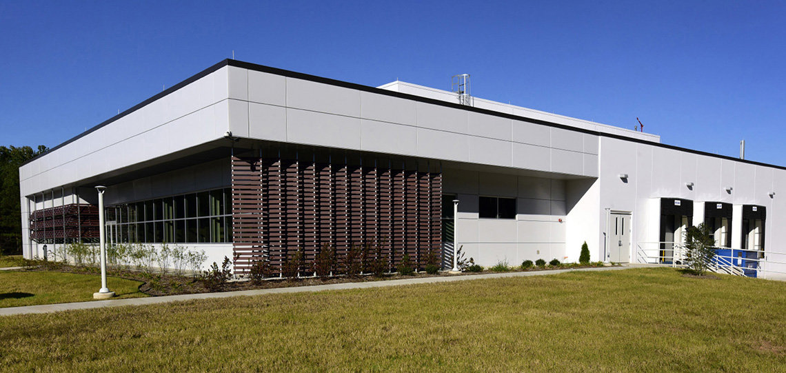 warehouse building with louvers