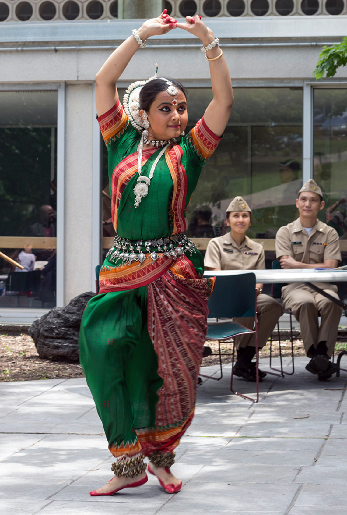 Arpita Sabud performs the Odissi style of traditional Indian dance.