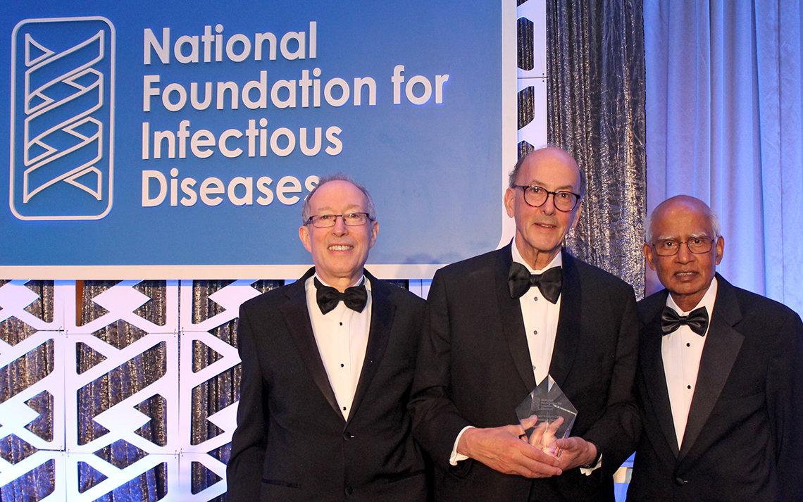 Dr. Walter Orenstein, Dr. Roger Glass, and Dr. Mathuram Santosham.