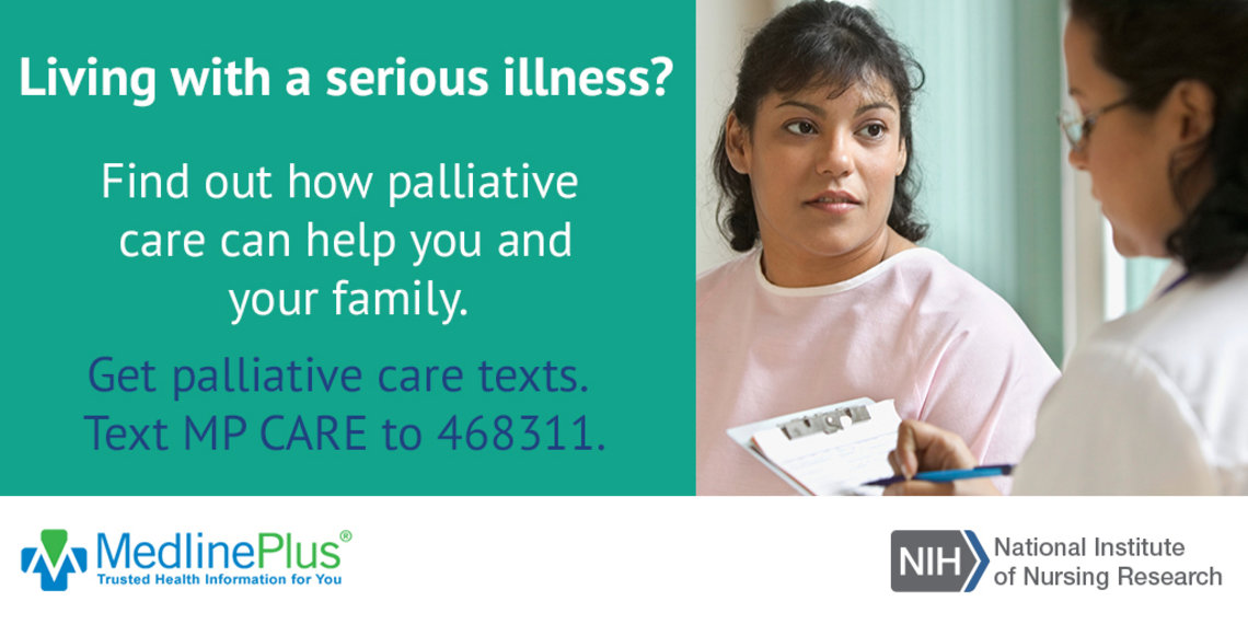 "NINR, MedlinePlus campaign ad, ""Living with a serious illness?"""