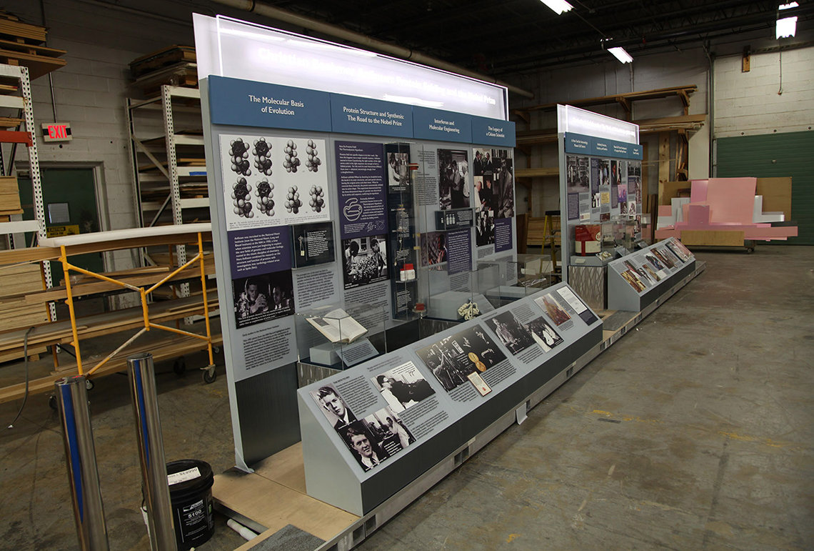The exhibits at the fabricator, prior to delivery