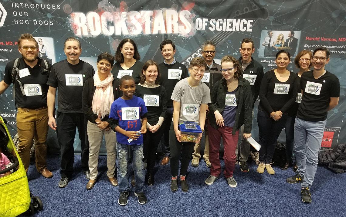 NIH volunteers at the Career Pavilion