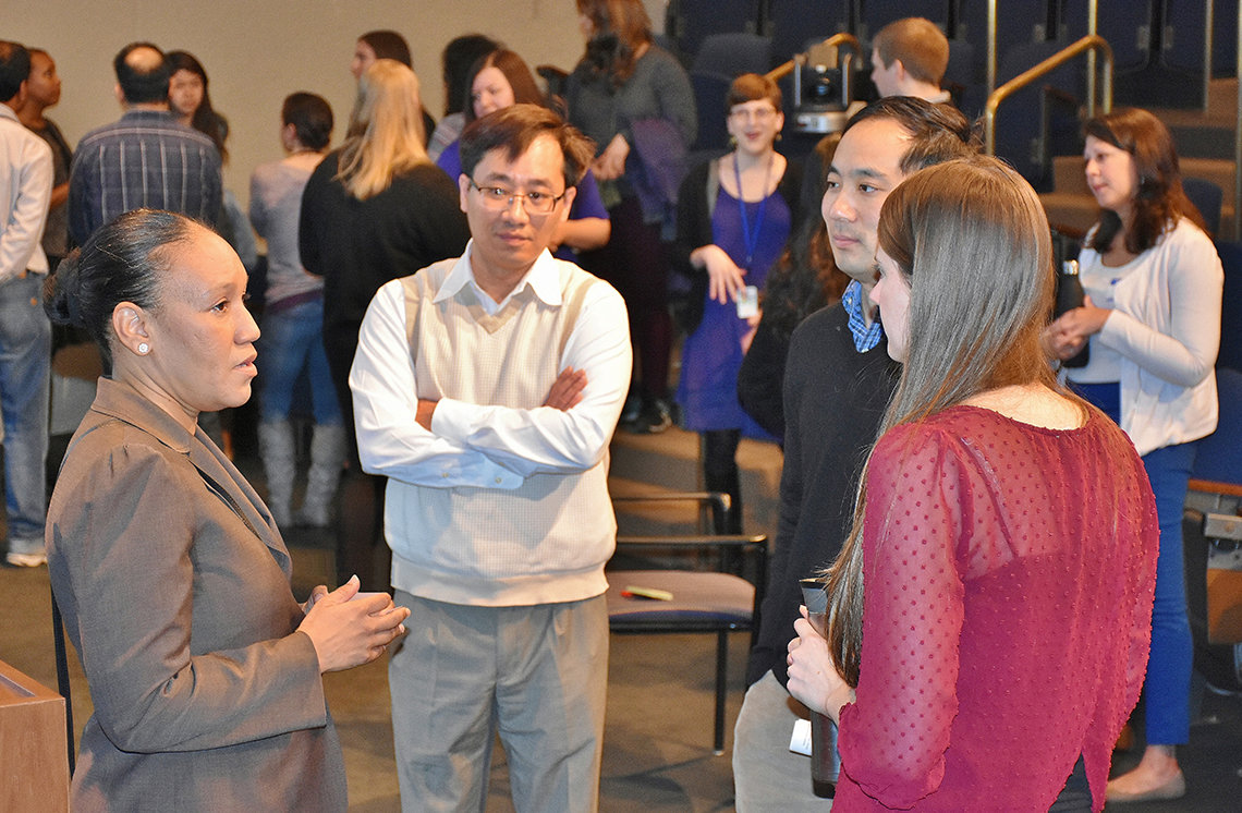 Participants engaging directly with speakers.