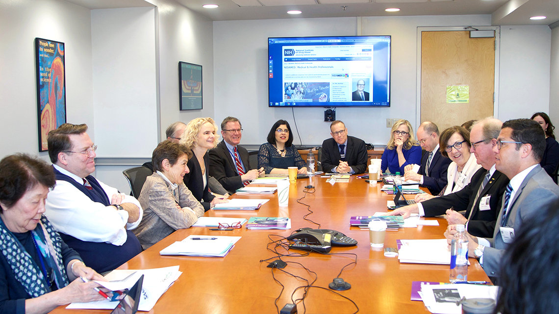 NIH and ADA staff at a conference table