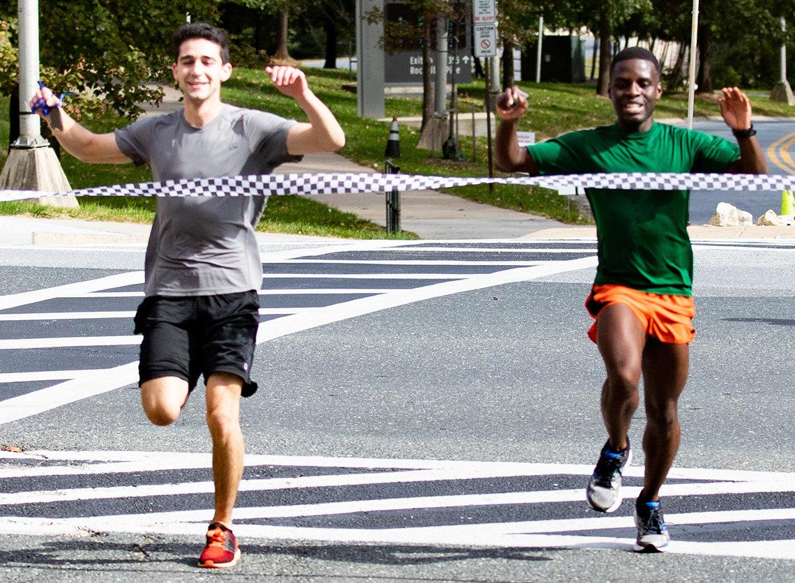 Race winners cross the finish line