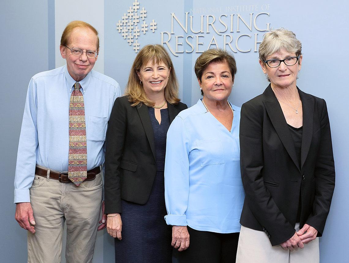 Dr. Ann Cashion, Dr. Jeffrey Kelly, Dr. Nilda (Nena) Peragallo Montano and Dr. Ida M. (Ki) Moore