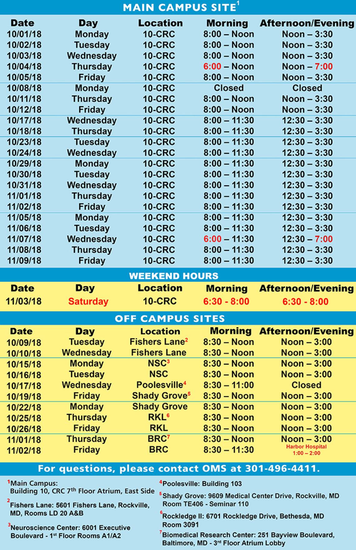 Flu vaccine schedule