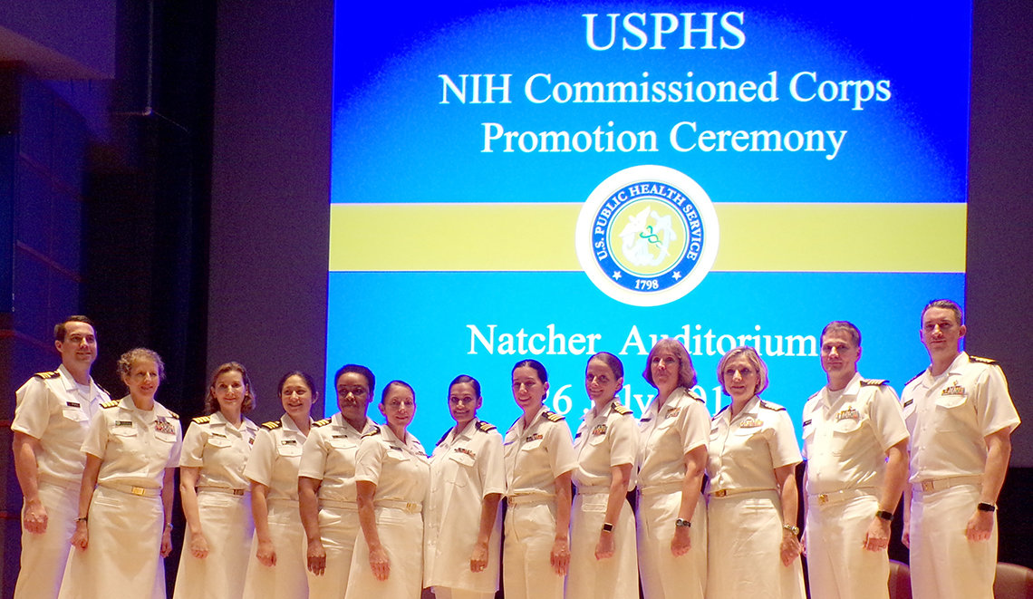 NIH officers recently promoted in the PHS Commissioned Corps