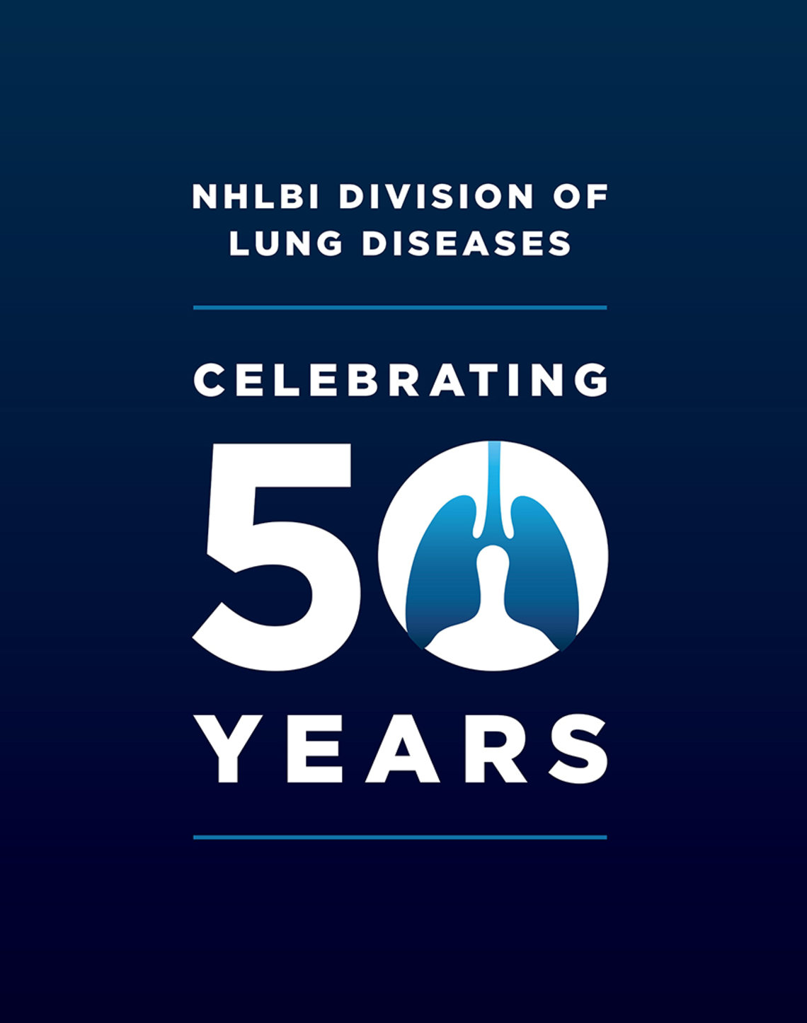 The NHLBI's Division of Lung Diseases celebrates 50 years logo