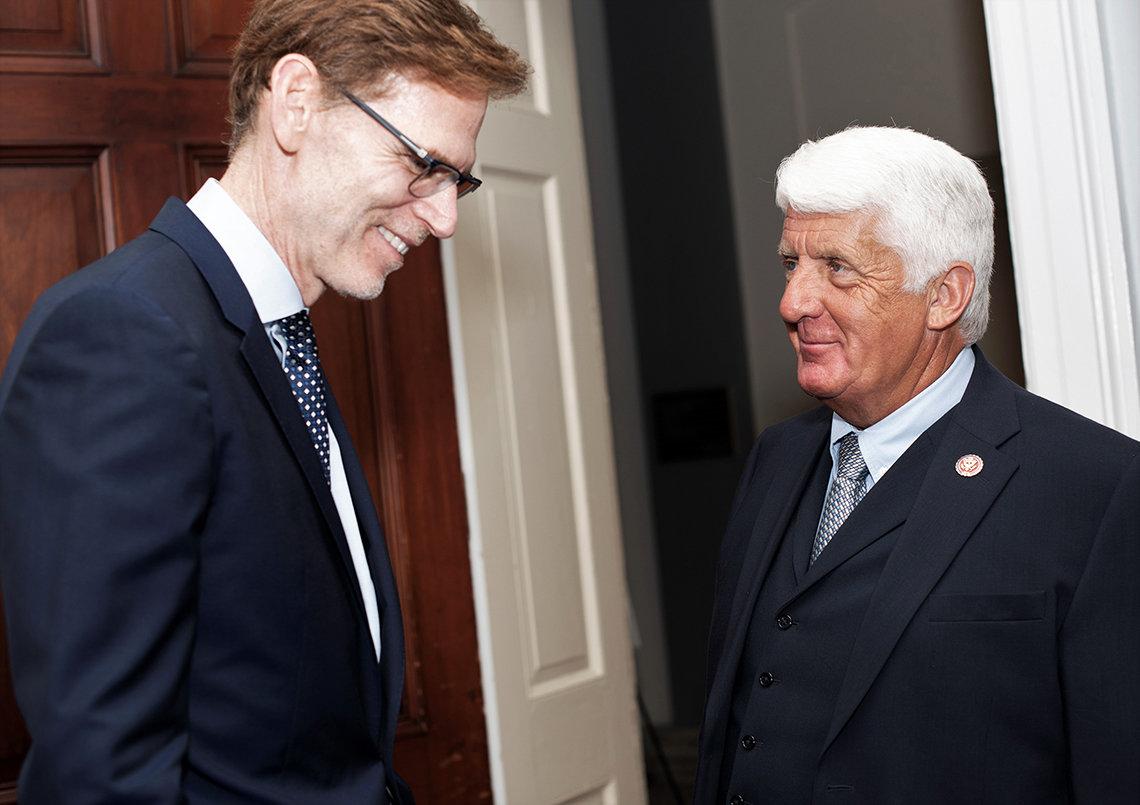 Tromberg meets with Rep. Bishop