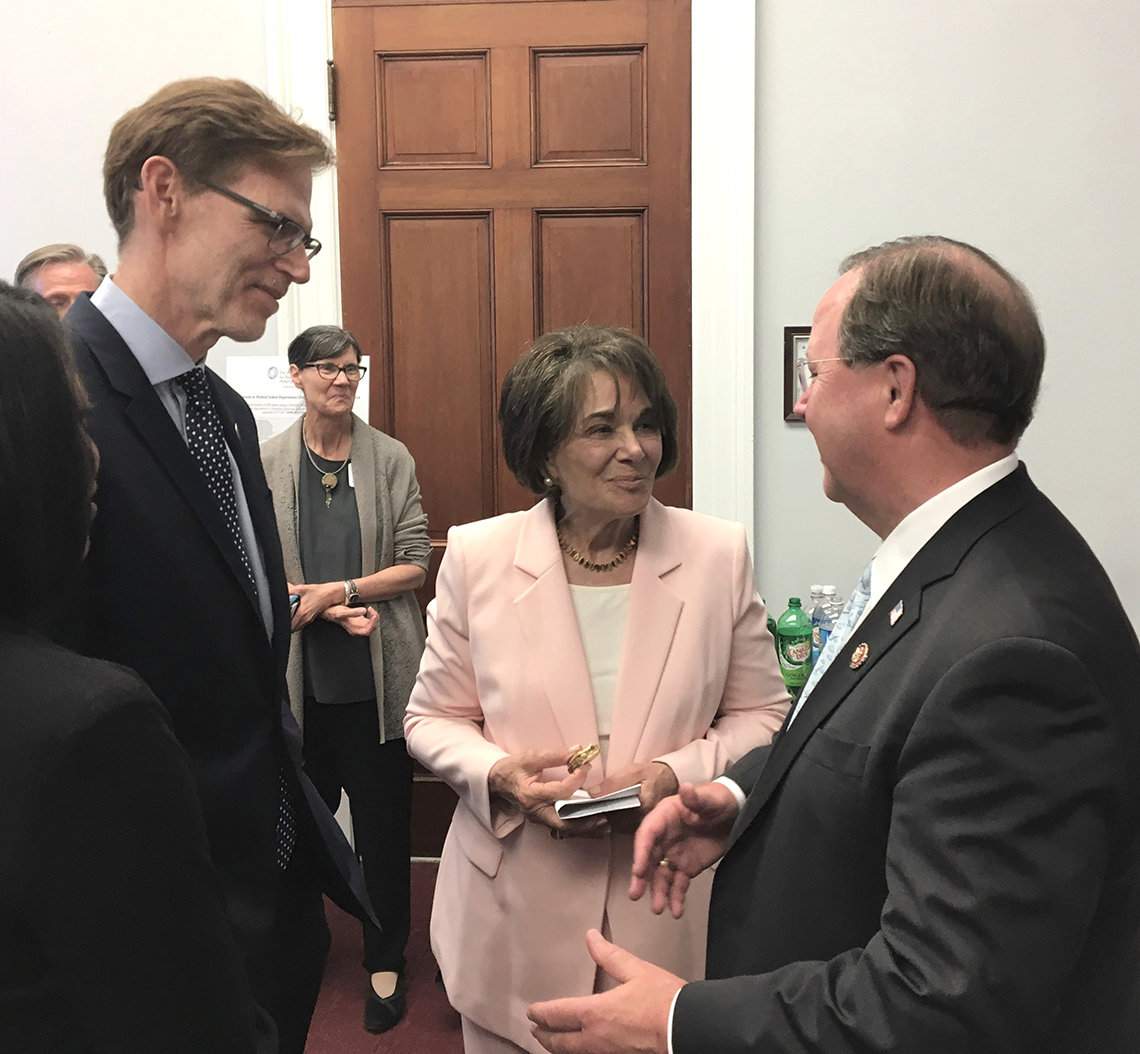 Tromberg meets with members of Congress