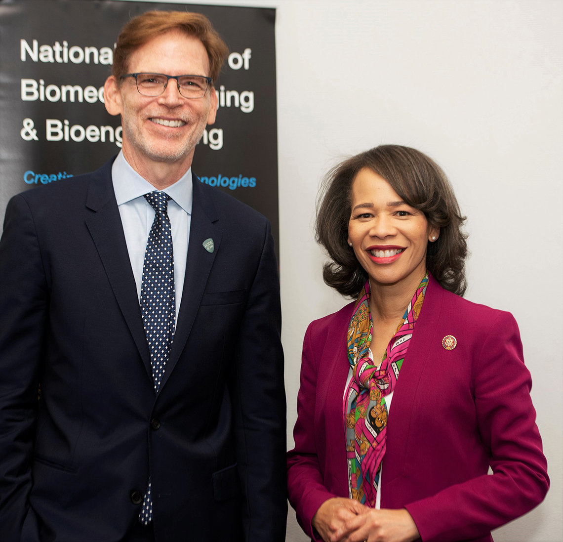 Tromberg chats with Rep. Rochester