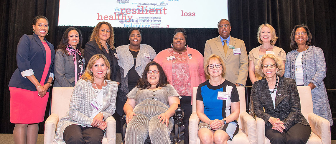 Attendees from NICHD's Community Engagement Forum on Improving Maternal Health pose for a group photo
