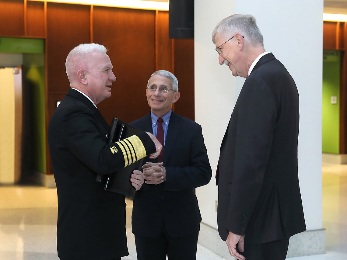 Collins chats with Giroir and Fauci