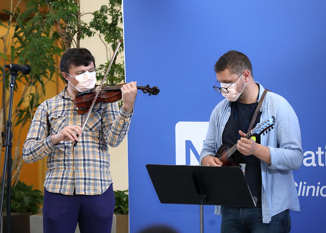 Fiddle player and mandolinist