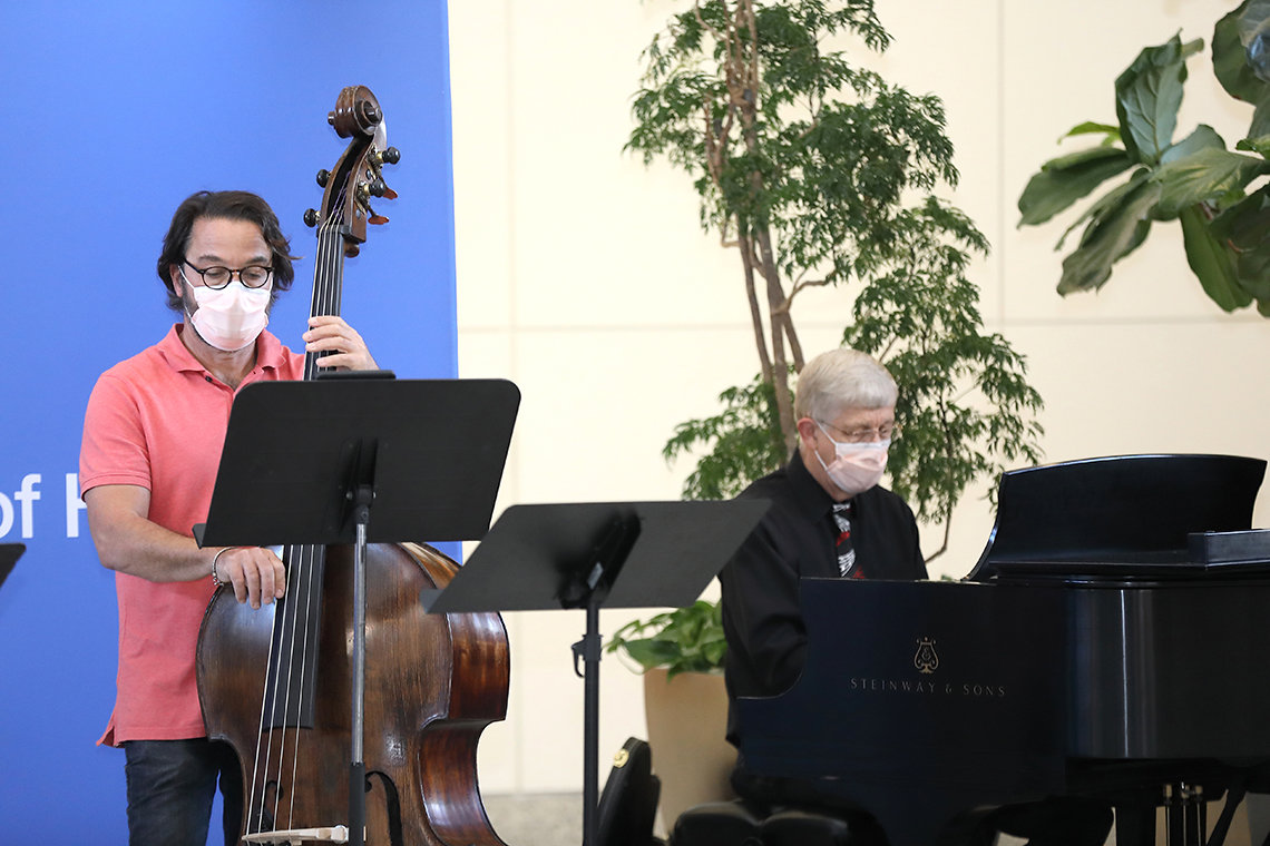 Drs. Tisdale and Collins play music