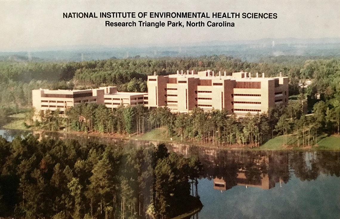birdseye view of NIEHS campus
