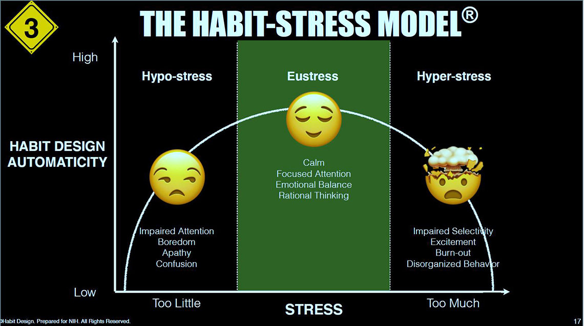 "An illustration of the ""Habit-Stress Model"""