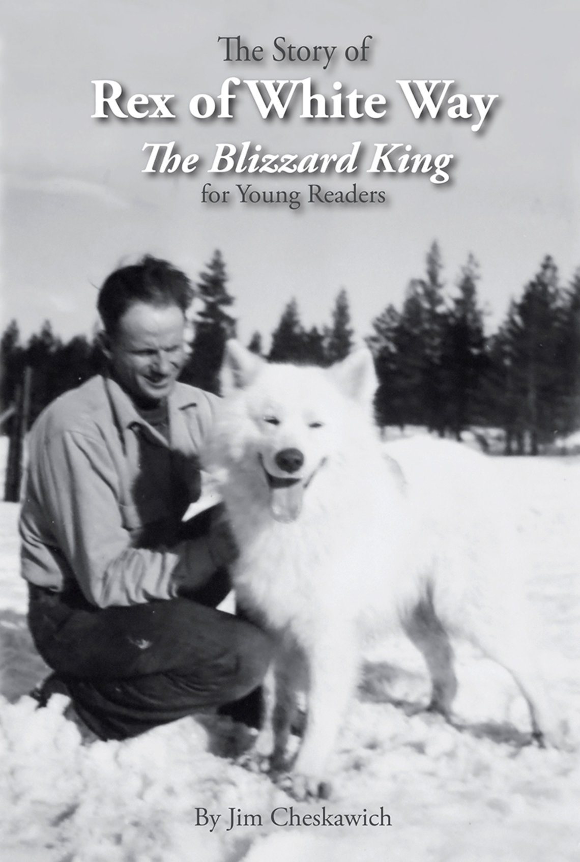 Book cover shows a man and his dog