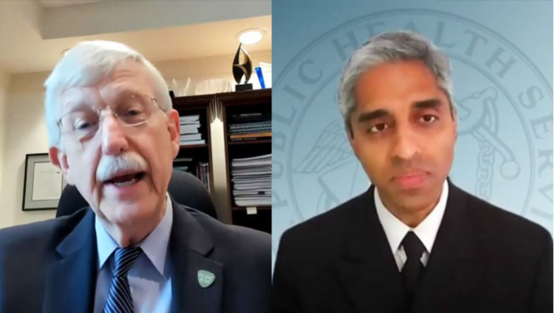 Murthy and Collins speak to each other over Zoom