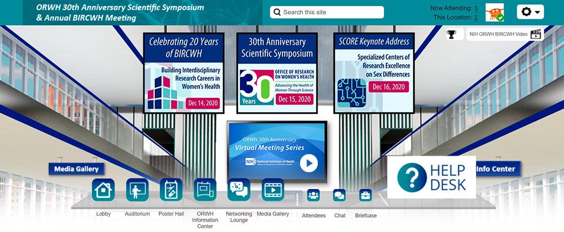 A screenshot of a virtual waiting room