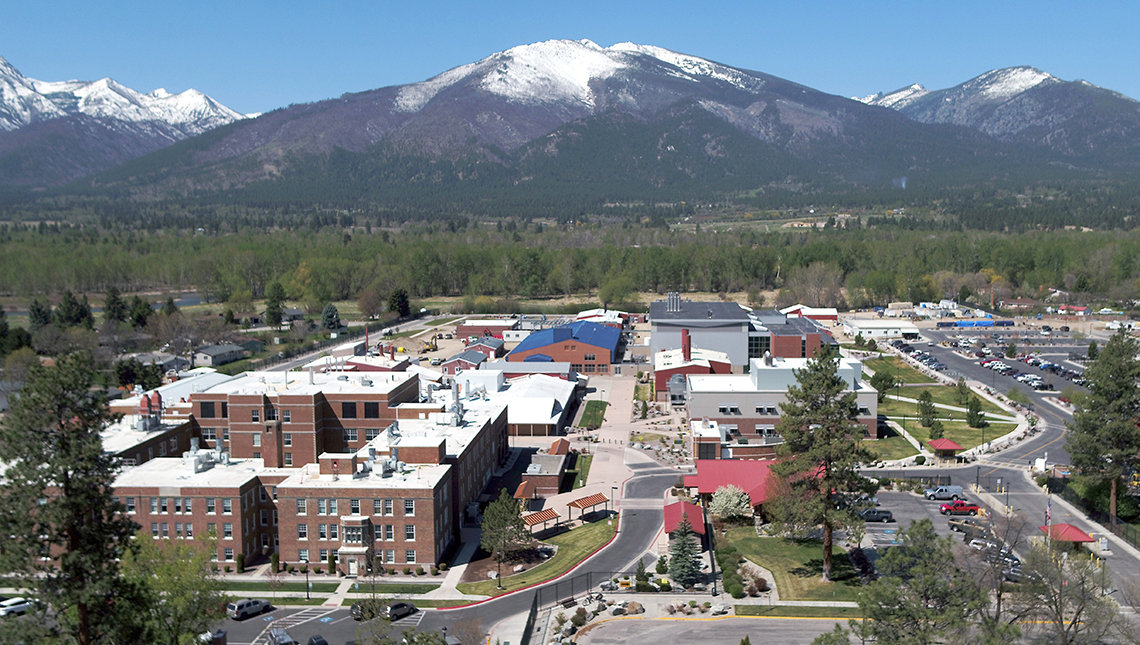 Birdseye view of the Rocky Mountain Labs campus in Montana