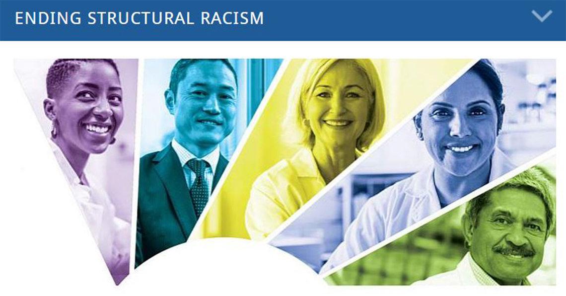 Website graphic of several people representing different genders, ethnicities, cultures, minorities